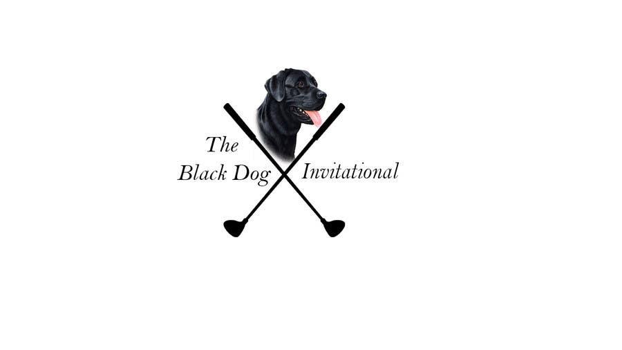 Kilpailutyö #48 kilpailussa Design a Logo for The Black Dog Invitational (golf tournament)