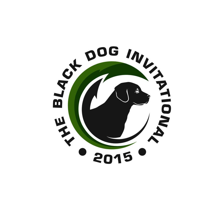 Kilpailutyö #65 kilpailussa Design a Logo for The Black Dog Invitational (golf tournament)