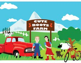 nº 13 pour Illustration Design for Cute Boots Farms par SKTSAO