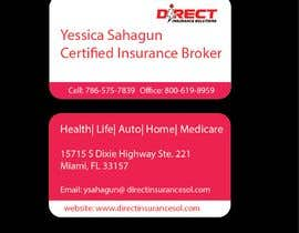 #117 untuk Direct Insurance Solutions - Business Card Design oleh irshadjaidchek