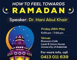 Nro 22 kilpailuun Flyer for 'Ramadan Lecture' käyttäjältä Bilal89ali