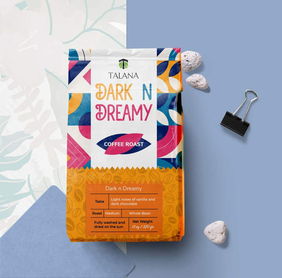Kilpailutyö #                                        115                                      kilpailussa                                         Talana Coffee package label design
