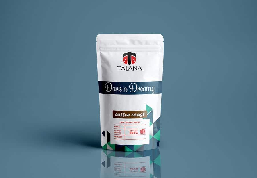 Kilpailutyö #                                        107                                      kilpailussa                                         Talana Coffee package label design