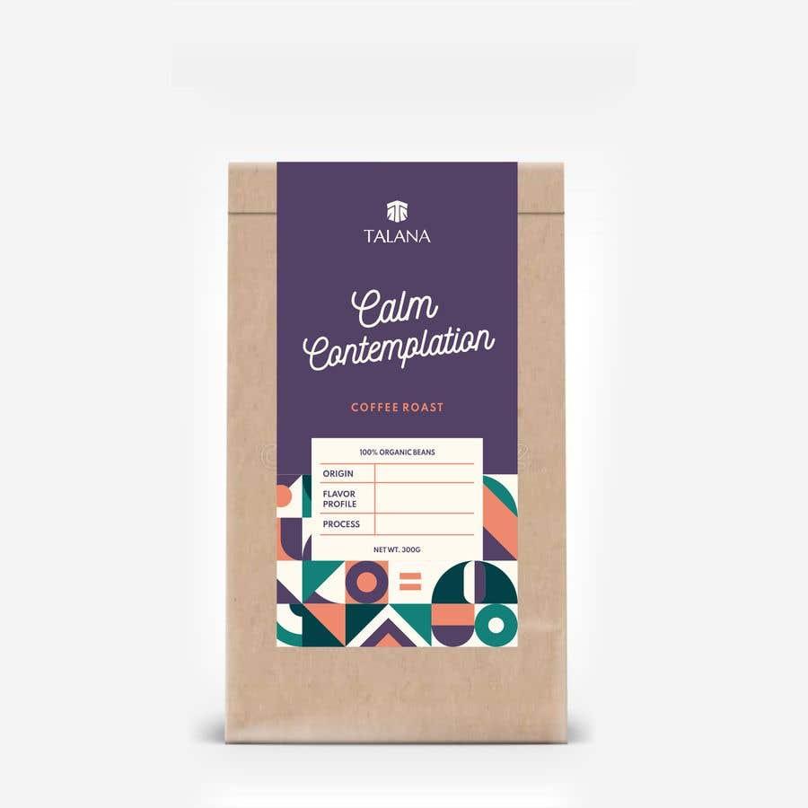 Kilpailutyö #                                        137                                      kilpailussa                                         Talana Coffee package label design