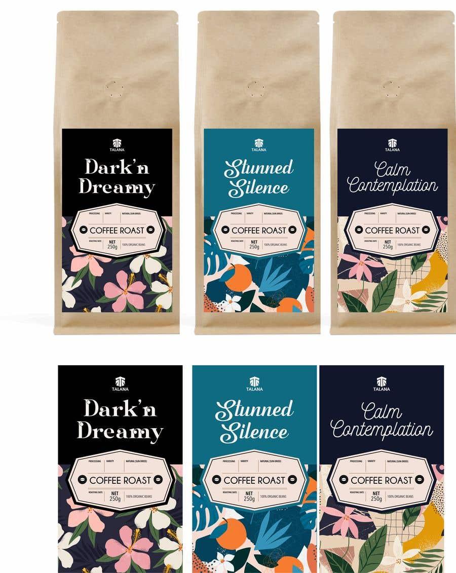 Kilpailutyö #                                        138                                      kilpailussa                                         Talana Coffee package label design