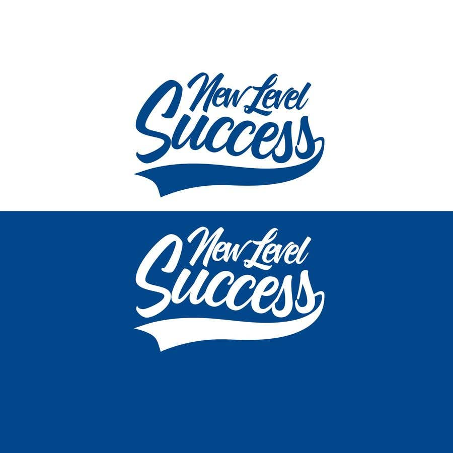 """Penyertaan Peraduan #                                        67                                      untuk                                         I need a logo designed. I want """"New Level Success"""" in the same style as the Dodgers logo that I will be attaching. - 05/04/2021 23:17 EDT"""