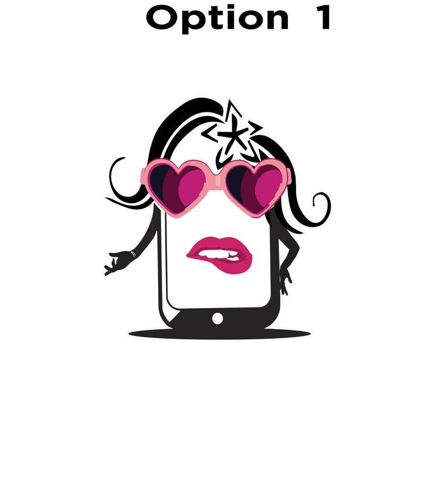 Penyertaan Peraduan #                                        32                                      untuk                                         Design a Smartphone girl icon based on previous icon concept