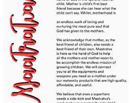 #16 pentru Brand Profile for my brand 'Maatratva' de către michisachan