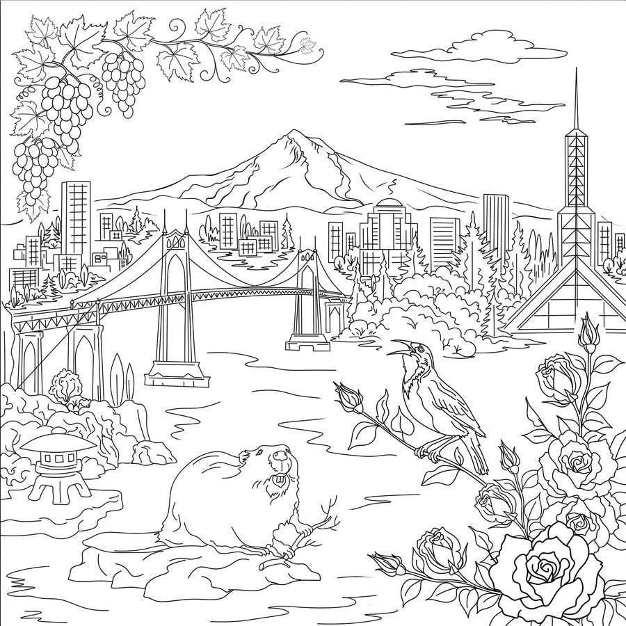 Penyertaan Peraduan #                                        35                                      untuk                                         Draw a coloring page for a Portland, Oregon restaurant