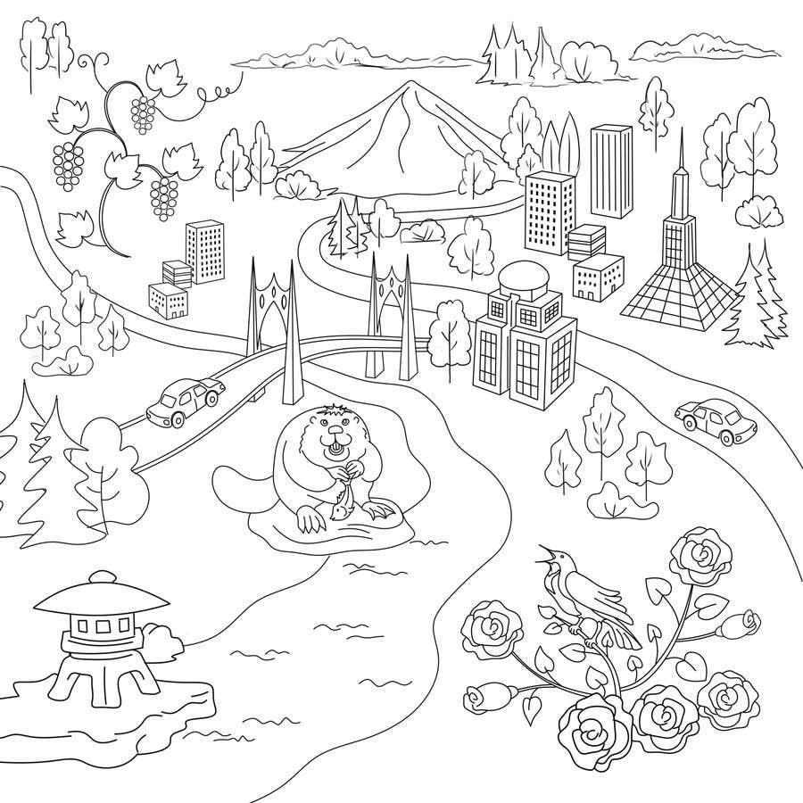 Penyertaan Peraduan #                                        52                                      untuk                                         Draw a coloring page for a Portland, Oregon restaurant