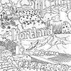 Graphic Design Entri Peraduan #48 for Draw a coloring page for a Portland, Oregon restaurant
