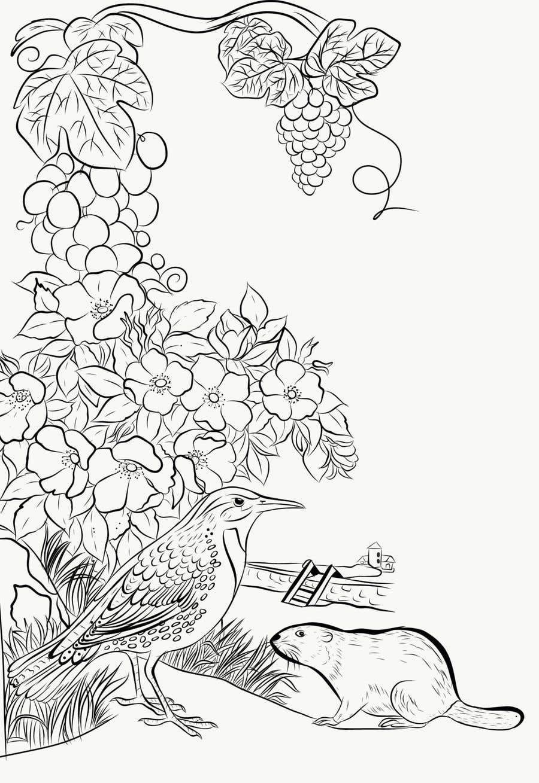 Penyertaan Peraduan #                                        27                                      untuk                                         Draw a coloring page for a Portland, Oregon restaurant