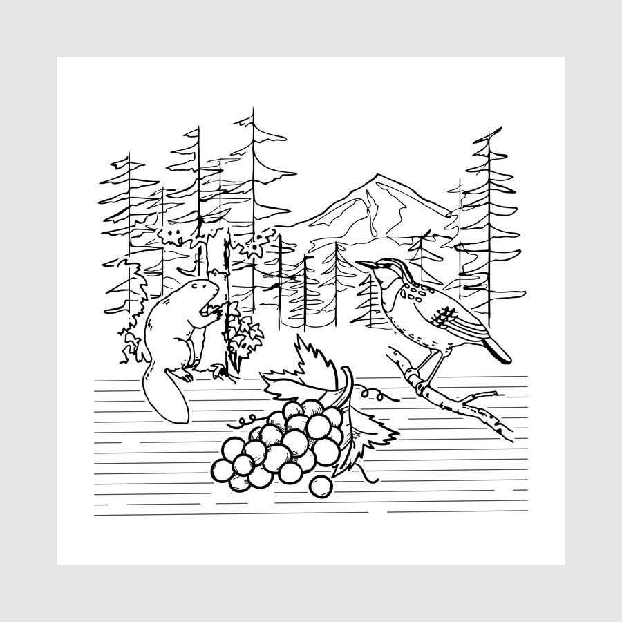 Penyertaan Peraduan #                                        6                                      untuk                                         Draw a coloring page for a Portland, Oregon restaurant