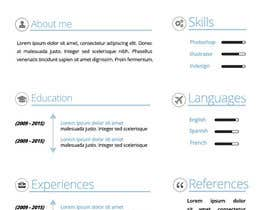 #133 for A inventive Resume template by fernandajoy