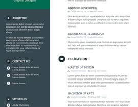 #57 for A inventive Resume template by ahmedmehmood89