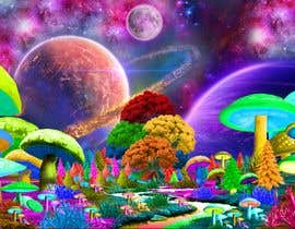 #58 untuk Create Fantasy / Psychedelic 3D Scene Landscape Artwork oleh panjamon