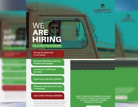 #53 for Poster for Hiring CDL class-A Truck drivers for Liberty truck lines af liponrahman