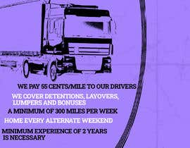 #41 for Poster for Hiring CDL class-A Truck drivers for Liberty truck lines af Yeexus