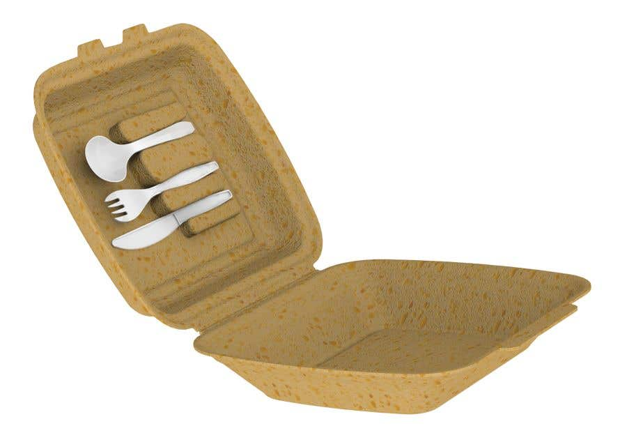Contest Entry #                                        21                                      for                                         Product Design Concept for incorporating Fork, Spoon, and Knife into disposable food packaging