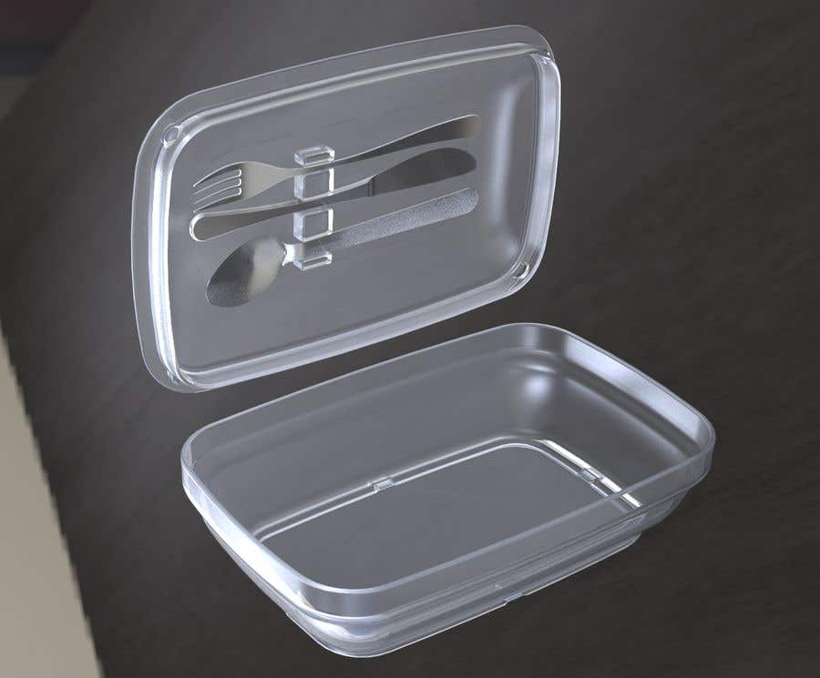 Contest Entry #                                        23                                      for                                         Product Design Concept for incorporating Fork, Spoon, and Knife into disposable food packaging