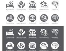 #19 untuk Design 5 icons oleh freelancerthebes
