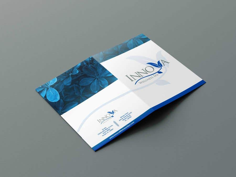 Contest Entry #                                        38                                      for                                         Design a Folder for a high end medical spa