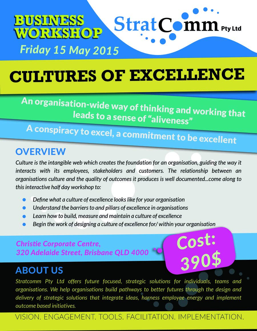 Bài tham dự cuộc thi #2 cho Design a corporate workshop flyer