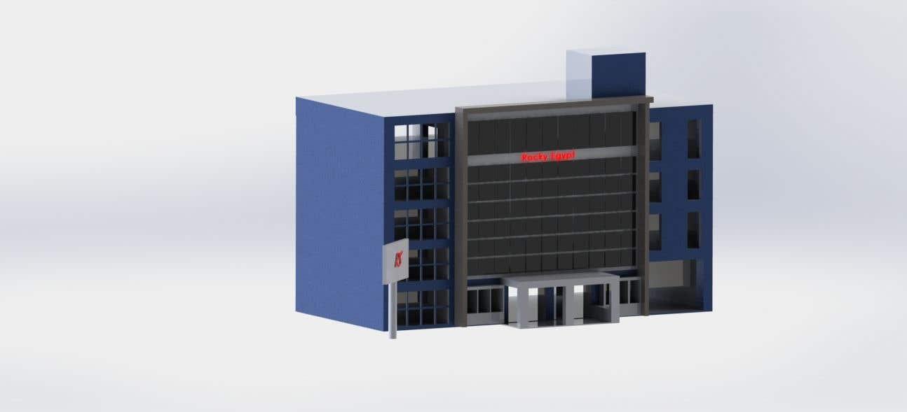 Конкурсная заявка №                                        13                                      для                                         Factory facade design with 3D