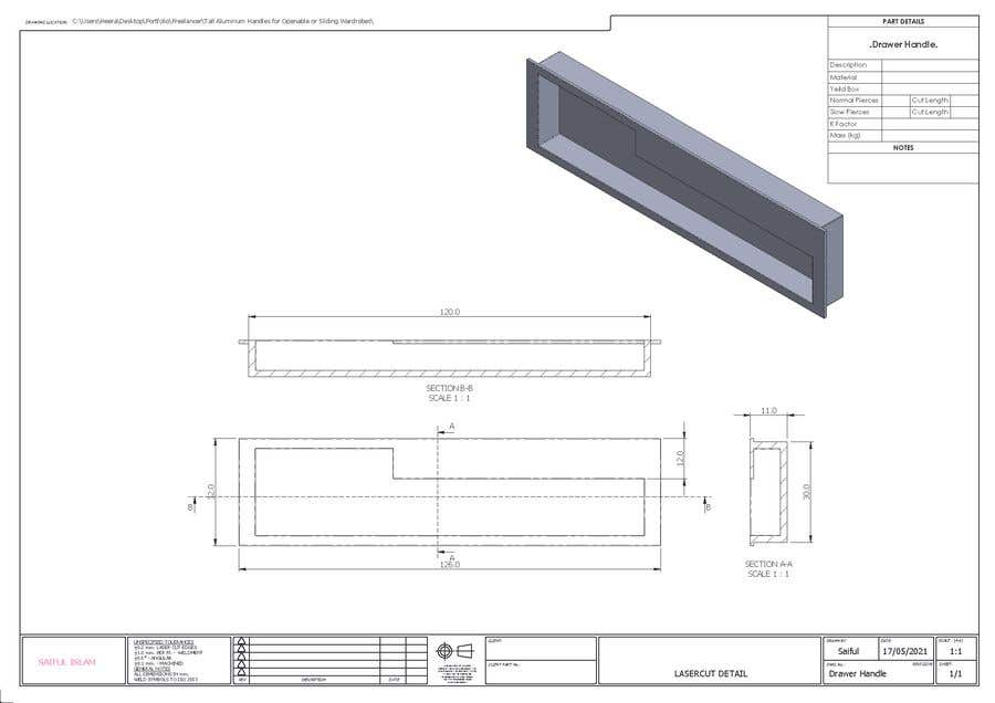 Proposition n°                                        79                                      du concours                                         Tall Aluminum Handles for Openable or Sliding Wardrobes