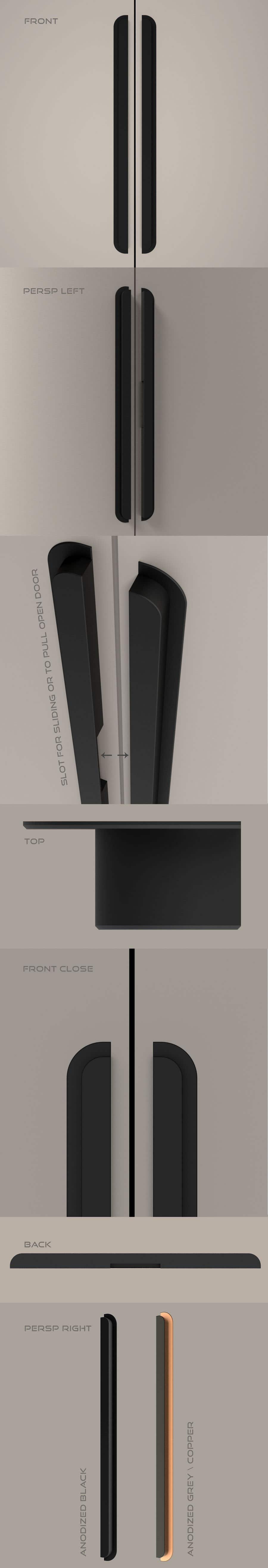 Proposition n°                                        46                                      du concours                                         Tall Aluminum Handles for Openable or Sliding Wardrobes