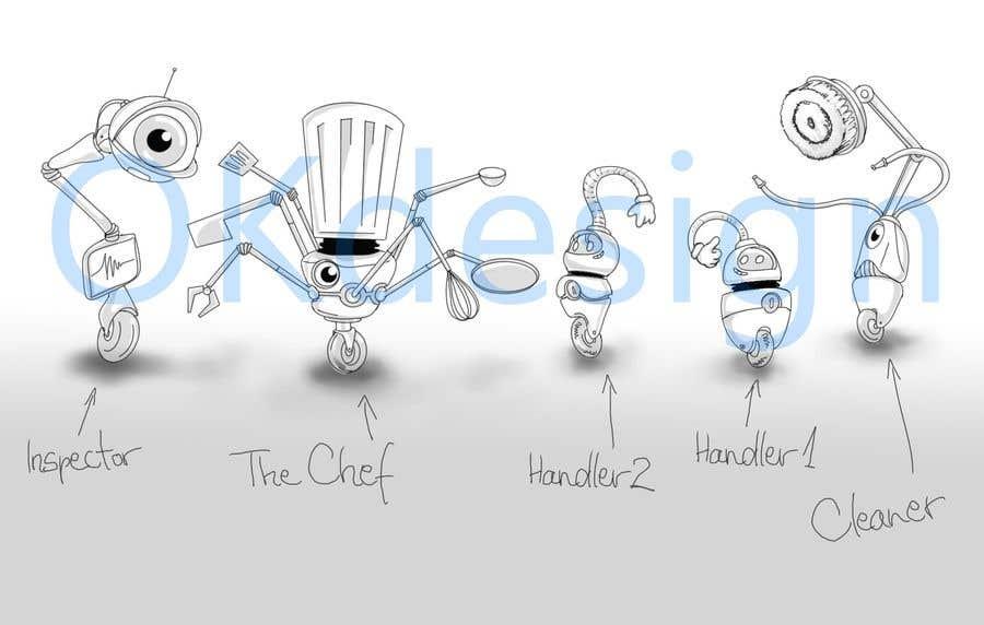 Penyertaan Peraduan #                                        19                                      untuk                                         Draw us 5 goofy robots