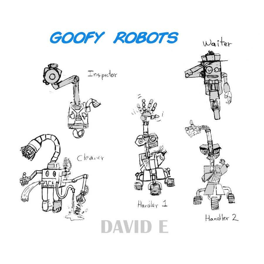 Penyertaan Peraduan #                                        55                                      untuk                                         Draw us 5 goofy robots