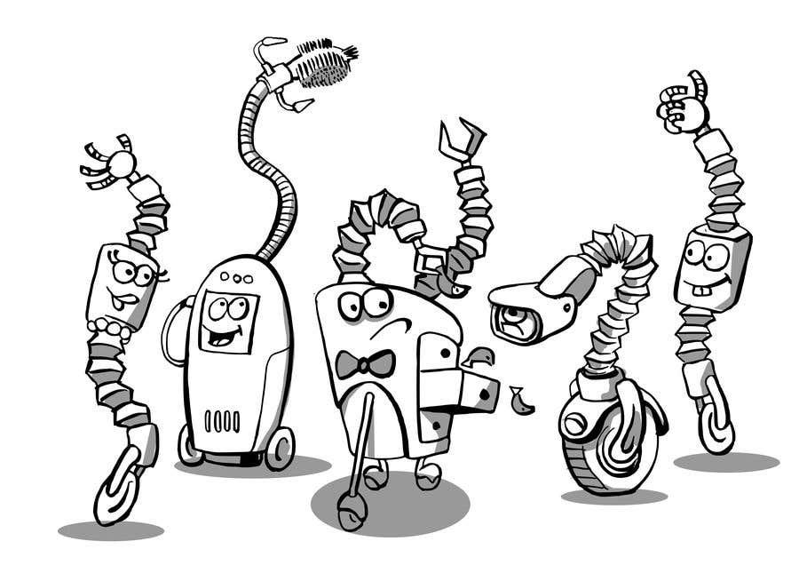 Penyertaan Peraduan #                                        41                                      untuk                                         Draw us 5 goofy robots