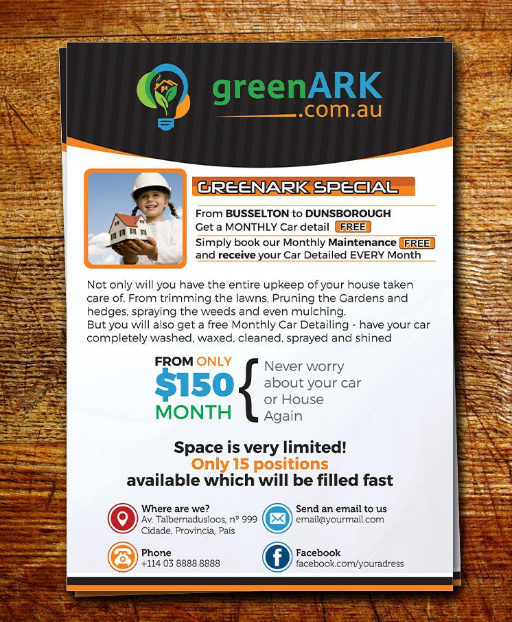 Contest Entry #                                        5                                      for                                         Design a Flyer for GreenArk Property Maintenance