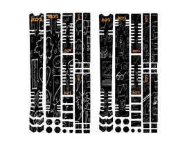 Nro 14 kilpailuun Graphic Design for MTB frame protection kits käyttäjältä mstbilkis606