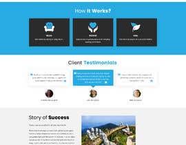 Nro 67 kilpailuun Need a Home Page Design for My Healing Website käyttäjältä jitp