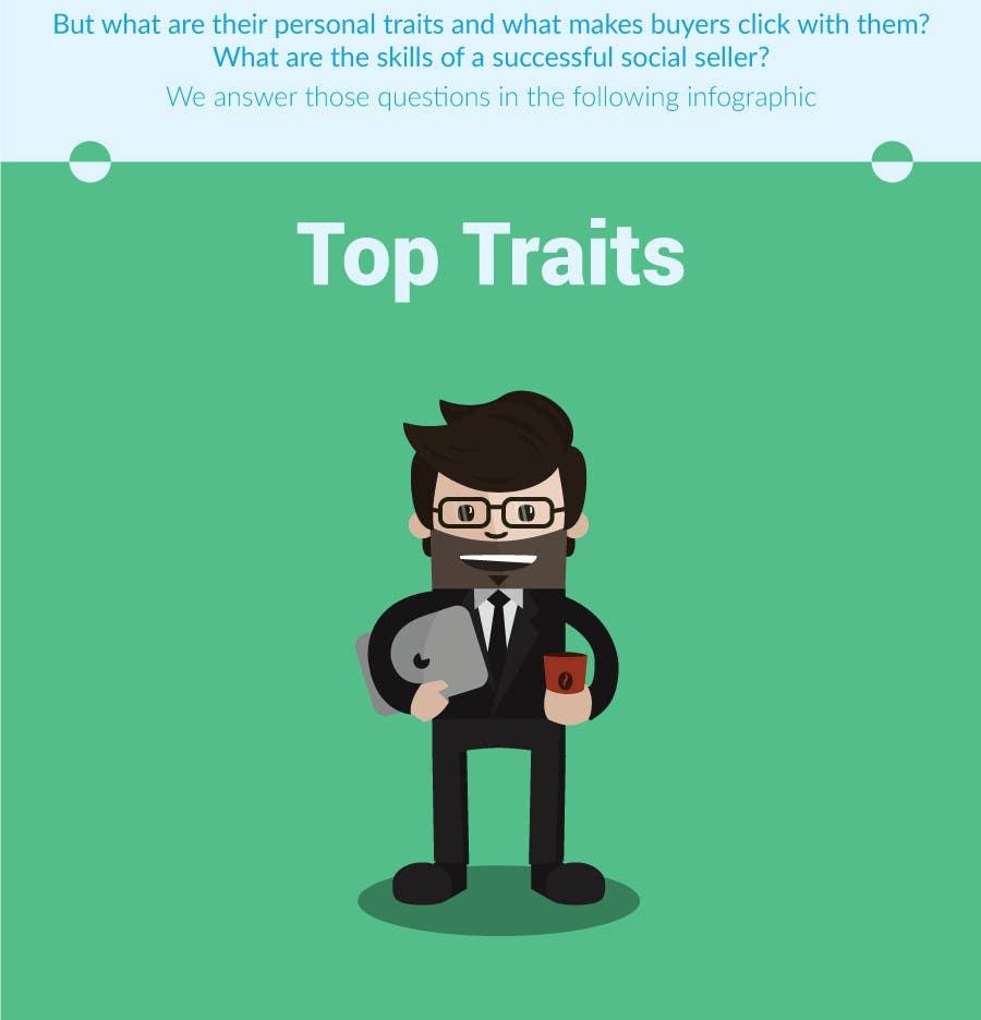 Konkurrenceindlæg #                                        18                                      for                                         Infographic about Social Selling Skills & Process: Flat Design