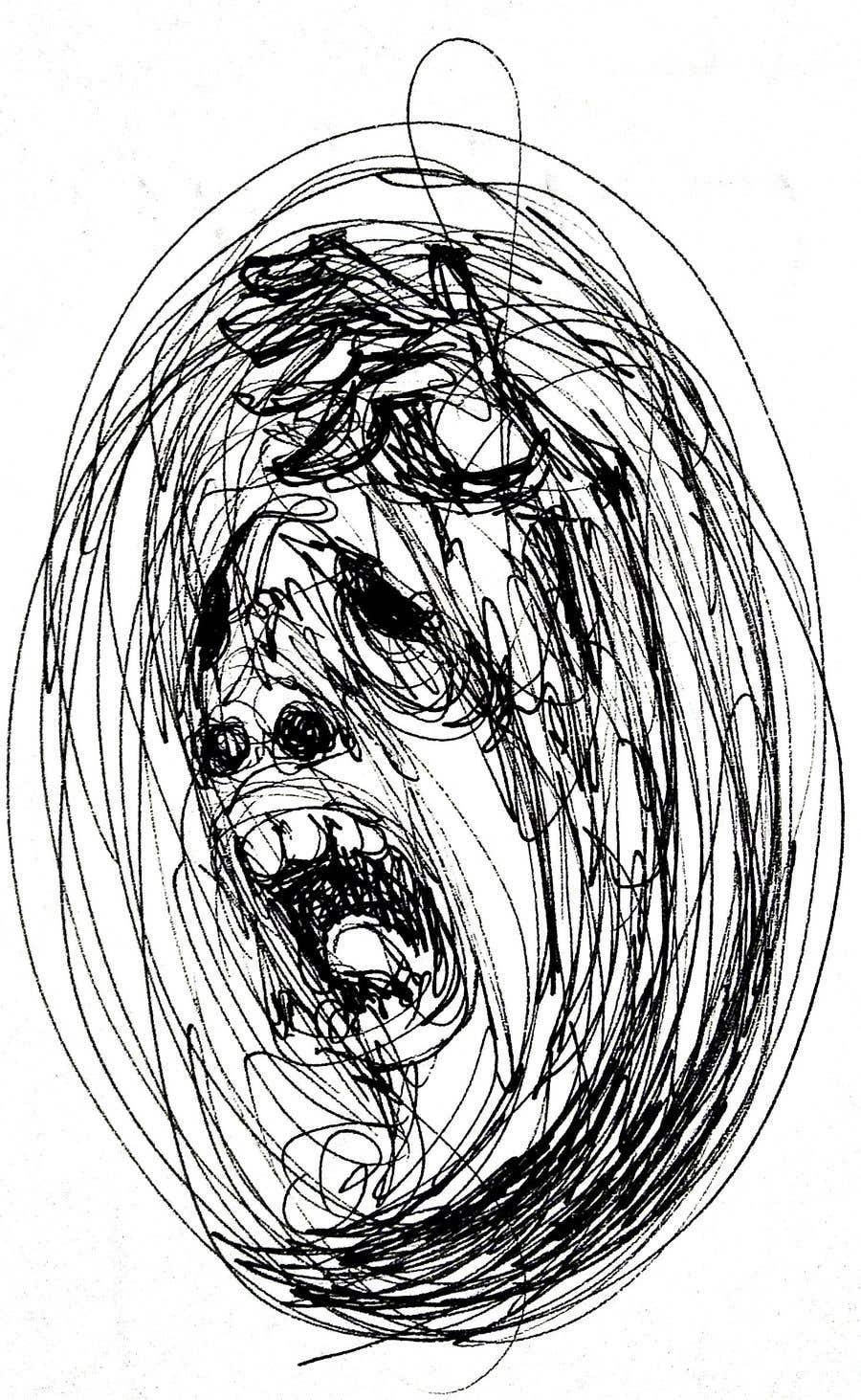 Kilpailutyö #                                        30                                      kilpailussa                                         Scribbled dark art