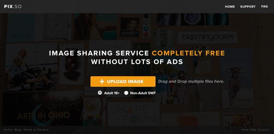 Konkurrenceindlæg #7 for Webdesign for PIX.SO - image sharing service