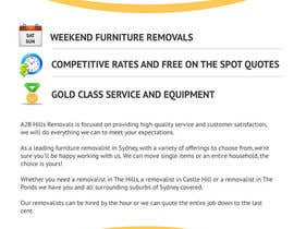 #7 para Design a Flyer for Furniture Removals Company por vigneshhc