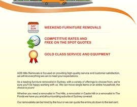 #10 para Design a Flyer for Furniture Removals Company por noelniel99