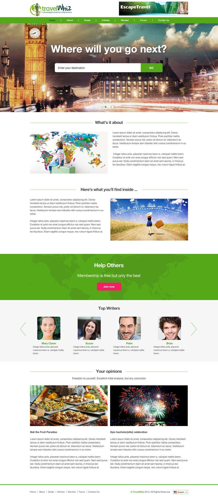 Konkurrenceindlæg #                                        12                                      for                                         Design a Website Mockup for TW