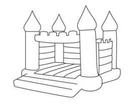 #5 para Design a gray scale flat icon illustration of a bouncy castle. por zzzabc