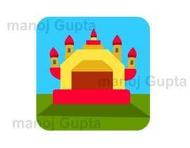 #2 para Design a gray scale flat icon illustration of a bouncy castle. por manojgupta2dart