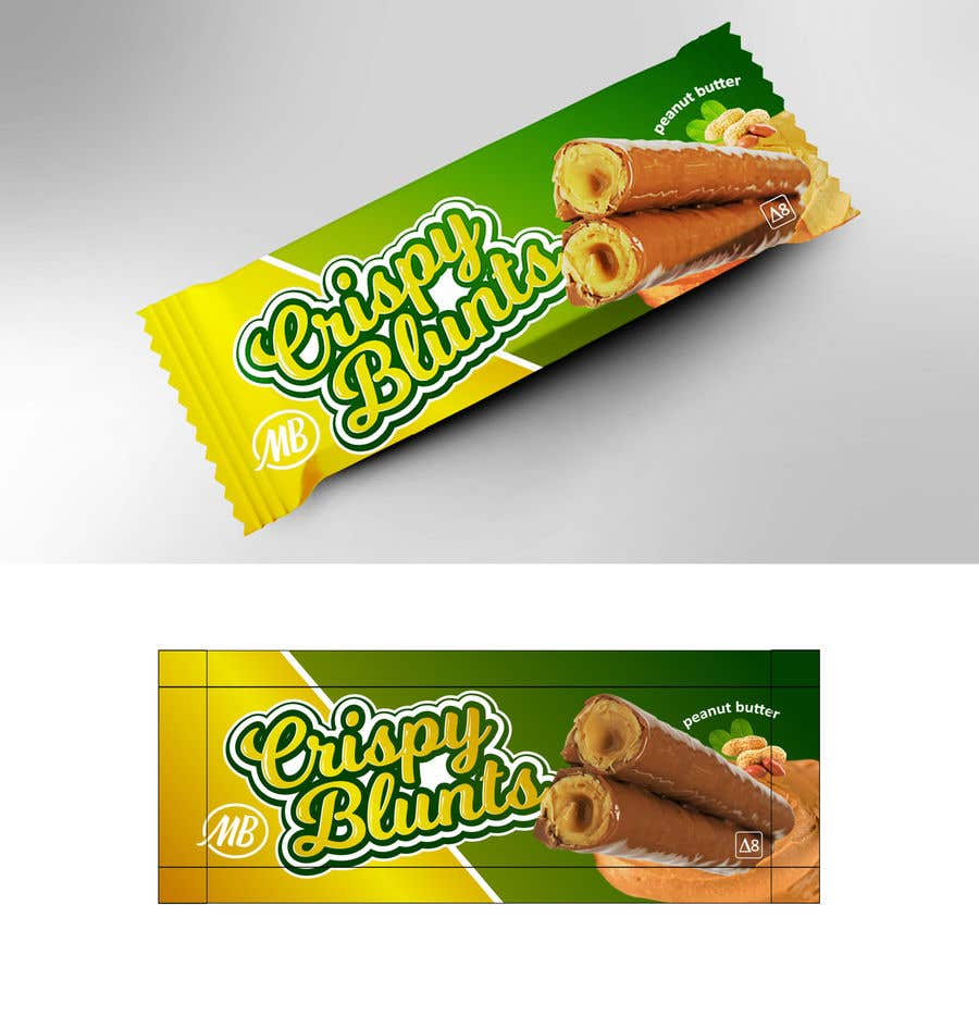 """Contest Entry #                                        27                                      for                                         design package wrapper metallic film for """"crispy blunts"""""""