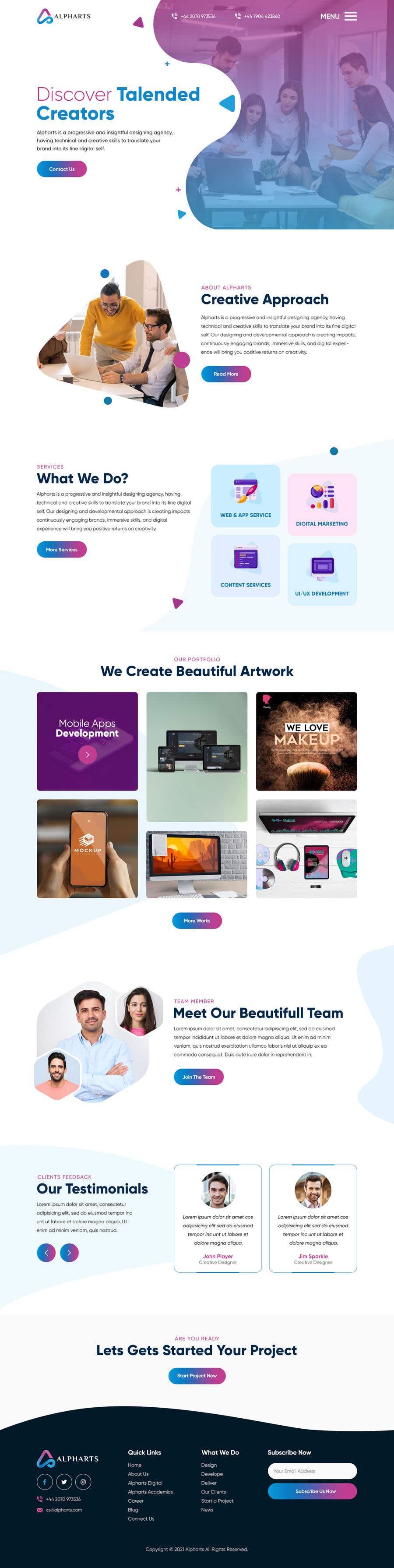 Konkurrenceindlæg #                                        60                                      for                                         Develop a Website for Digital Marketing Company