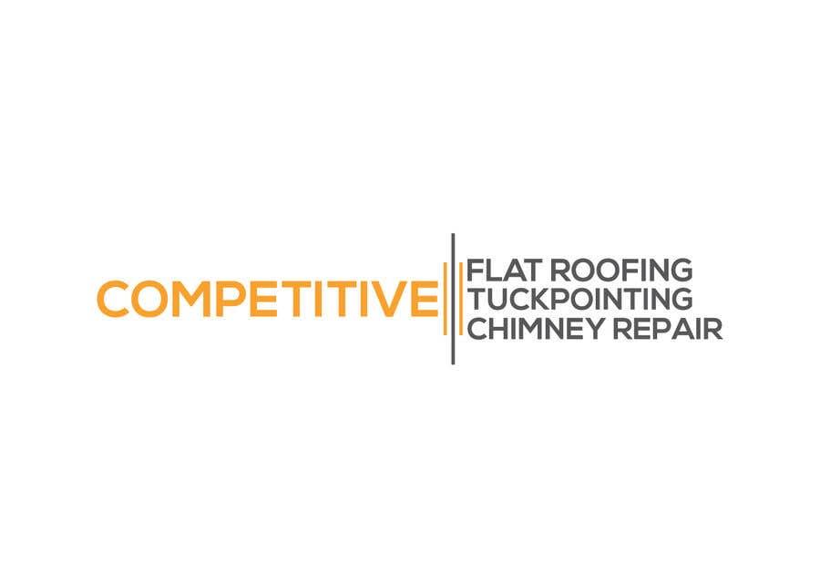 "Intrarea #                                        99                                      pentru concursul ""                                        Logo for tuckpointing & chimney repair company                                     """