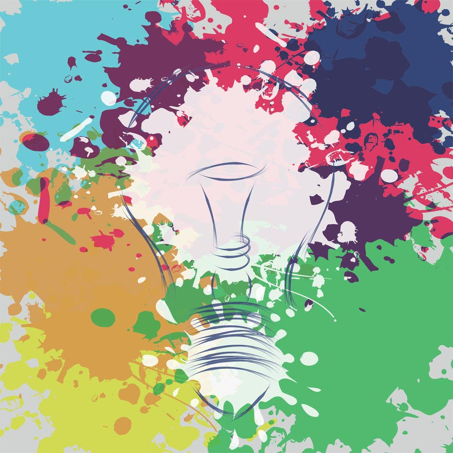 Contest Entry #                                        24                                      for                                         Design an light bulb in an abstract modern hand drawing style