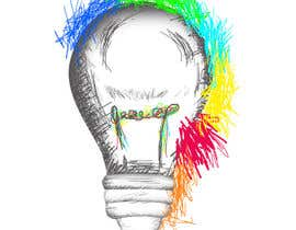 #4 for Design an light bulb in an abstract modern hand drawing style by ralfgwapo