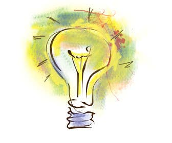 #12 untuk Design an light bulb in an abstract modern hand drawing style oleh grapple2013